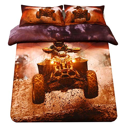 SDIII 3D Xtreme Sports Comforter Sets Full/Queen Size Racing Motorcycle Motocross Bedding Dirt Bike Theme for Teen Boys