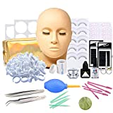 Kit Extensiones de Pestañas, Missicee kit Extension de Pestañas Postizas Extensión Entrenamiento Herramienta de Maquillaje, Kit de Práctica con Bolsa