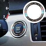 Lembeauty Ringrahmen für den Start/Stopp-Knopf, kreisförmig, Kohlefaser-Dekorationsring