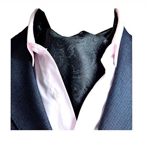 Wookki 100% Handmade Cravate Ascot Tie De Fantaisie En Polyester Soie Pour Mariée Cérémonie Fête Party Soiree Business Travail Homme Jeune Garçons Imp