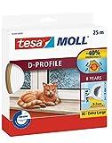 tesa H0538900 05389–00000–00Moll D Zugluftstopper für Türen und Fenster, weiß, 25m x 9mm, 25m x 9mm white