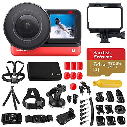 Insta360 One R 1-inch Edition Wide Angle Mod, Waterproof Sports and Action Camera Bundle with Froggi Extreme Sport…