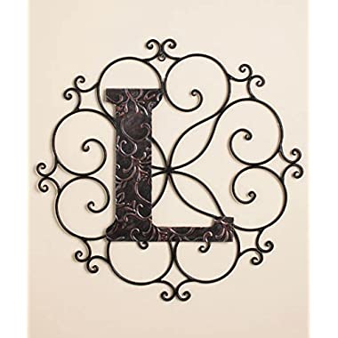 Personalized Metal Embossed Monogram Wall Hanging (L)