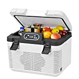 H.Slay SHKUU 19L Refrigerador de Coche de Doble núcleo Control de Temperatura del Coche y el hogar Pantalla Digital Mini Nevera para Dormitorio
