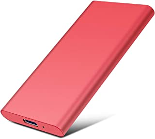 Externe harde schijf, 2 TB, USB 3.1, compatibel met laptop en Mac (2 TB, 2 -Red)