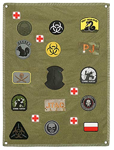 VIKING GEAR® Airsoft Patch Aufhänger - Klettmatte Wand - Patches - Kletttafel - Patches Klett - Patchs - Mattenwand - Patchwand, Oliv