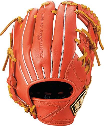 ゼット(ZETT) 少年野球 軟式 グラブ (グローブ) ゼロワンステージ セカンド ショート 右投用 身長120cm~135cm 新軟式ボール対応 ディープオレンジ×オークブラウン(5836) BJGB71910