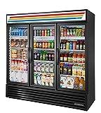 True GDM-72-HC~TSL01 Triple Swing Glass Door Merchandiser Refrigerator with Hydrocarbon Refrigerant...