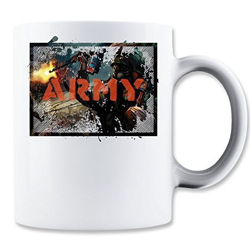 Army | War | Fire in The Guns | Soldier | World war | Killing | AK47 | Gas mask | Simple | Shape Klassische Teetasse Kaffeetasse