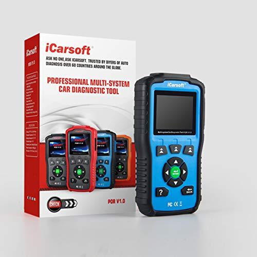 iCarsoft Escáner de diagnóstico auto POR V1.0 para Porsche con la exploración del airbag, reset del servicio de aceite, ect del reset del SAS