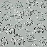 Softshell Elefanten, wind- und wasserabweisend, weiß (50cm