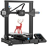 Creality WOL3D Ender 3 V2 FDM All Metal 3D Printers Kit with Upgraded Silent Motherboard, Carborundum Glass Bed, Mean Well Power Supply