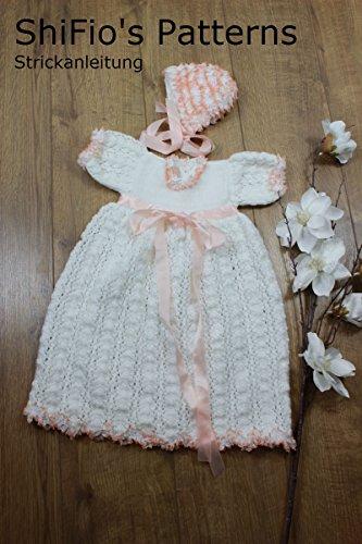 Strickanleitung  - KP213 - Taufkleid für Babys und Mütze in 3 Größen