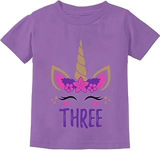 Gift for 3 Year Old Girl Unicorn 3rd Birthday Toddler Kids T-Shirt