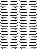 36 Pairs Reusable Glitter Eyeliner Stickers Instant Eyeliner Stickers Self-adhesive Eye Line Strip Sticker Eye Makeup Tool Waterproof Reusable Eyeliner Stickers for Eyes Dress Up (Black)