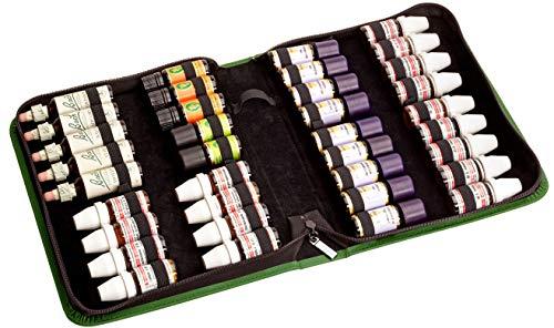 Homöopathie Taschenapotheke für 10 g Globuli, 20 ml Bachblüten oder ätherische Öle mit 40 Schlaufen