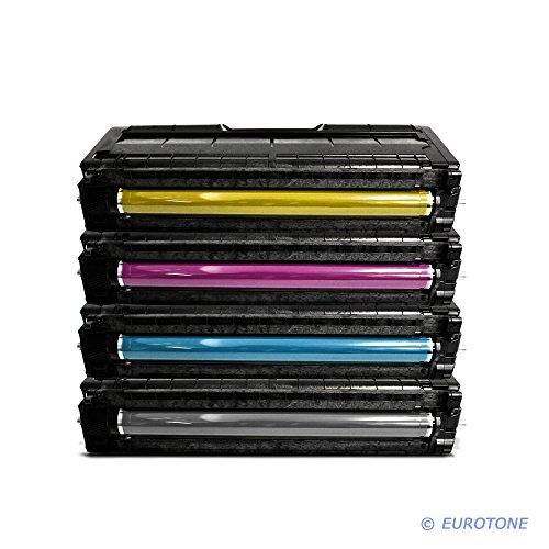 Eurotone Toner Kartuschen für Ricoh Aficio : SP C250SF / SP C250DN ersetzten BK C Y M Patronen im Spar Set - kompatible Premium Kit Alternative