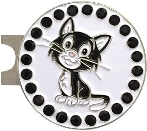 Special Campaign Giggle Golf Bling Cat Ball gift Marker Standard with Hat A Clip