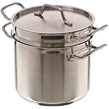 Update International (SDB-12) 12 Qt Induction Ready Stainless Steel Double Boiler w/Cover