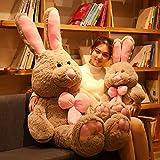 Xiaotian Netter Plüsch-Spielzeug Kaninchen Puppe Rag Doll Schlafkissen Große Puppe Mädchen-Nette Geburtstags-Geschenk 140CM,140cm