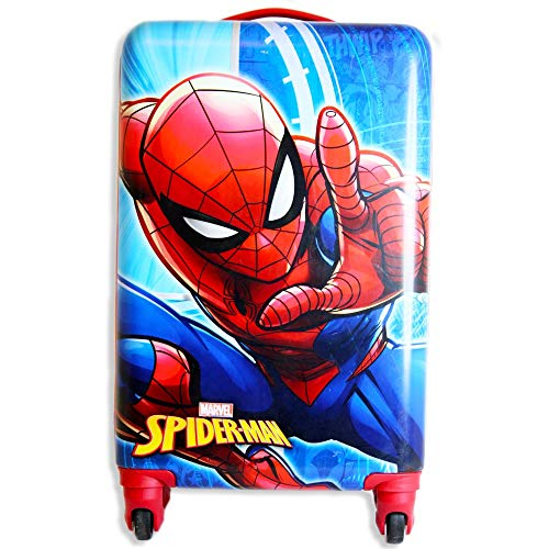 Spiderman Kids Luggage 20 Inches Hard-Sided Tween Spinner Carry-On Travel Trolley Rolling Suitcase for Kids California