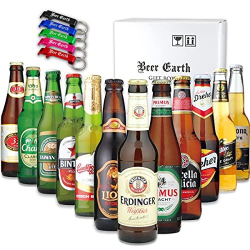 世界のビール[12ヵ国12本]飲み比べ ギフトセット【正規輸入品】【Amazon購入限定 アルミ製オリジナル栓抜きプレゼント】父の日 お祝 お返し 誕生日プレゼントに 専用ギフトボックスでお届け