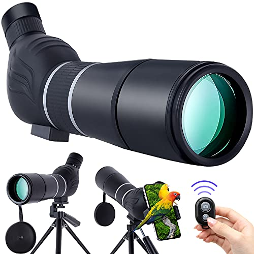 BEI & HONG HD Spotting Scope with Tripod and Phone Adapter,...