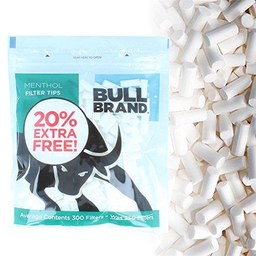 1200 x Bull Brand Menthol-Filterspitzen | Slim Pre Cut Tips für Zigaretten / Rollen