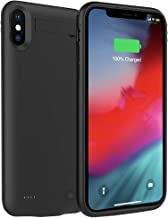 Battery Case for iPhone Xs Max, ZURUN 5200mAh with Kickstand Portable Protective Charging Case Extended Rechargeable Battery Pack Charger Case Compatible with iPhone Xs Max (6.5 inch) (Black)