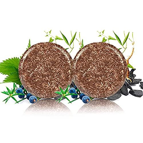 HAVAJ Barra de champú de color gris orgánico, jabón acondicionador orgánico 100% natural, jabón acondicionador de esencia (2 unidades)