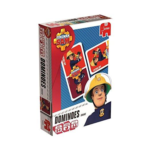 Jumbo Spiele 19402 Jumbo 19402-Fireman Sam Domino Kartenspiel