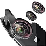 Vorida Phone Camera Lens Cell Phone Camera Lens 2-in-1 Kit 12X Macro Lens + 0.7X HD Wide Angle Lens Compatible for iPhone Xs Max X/8/7/6 Samsung Google etc.