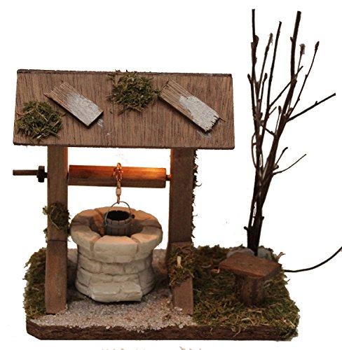 Brunnen Zieh-Brunnen beleuchtet für Krippe Weihnachtskrippe Krippenstall Krippenzubehör