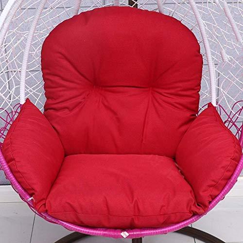Yuany mand schommelstoel kussen rotan rieten ei hangstoel pads voor binnen buiten, Grootte: 120x118 cm (kleur: groen)