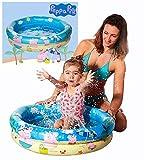 Smart Planet® Peppa Pig Kinder Baby Pool / Mini Baby Planschbecken 74 x 18 cm Kleiner Pool zum Baden für Babys und Kleinkinder