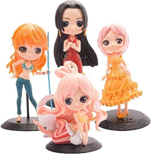 ZYBZGZ One Piece Big Eyes 4 Q Edition Character Doll Boa Hancock Anime Modello Animación de Personajes Character Statua Decoración Figura de acción