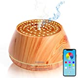 YOUNGDO 400ml Diffusore di Oli Essenziali con V4.2 Altoparlante Stereo Bluetooth, Aroma ad Ultrasuoni con Bluetooth e App, Design Colosseo Romano Umidificatore 8 Colori LED Selezionabili