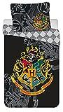 Harry Potter - Juego de funda nórdica de 140 x 200 cm y funda de almohada de algodón