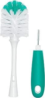 LifeKrafts Bottle and Teat Cleaning Brush: 2-in-1 Bottle and Teat Brush (Pack of 1 Greenish Blue Color) Milk Bottle Brush, Bottle Cleaner