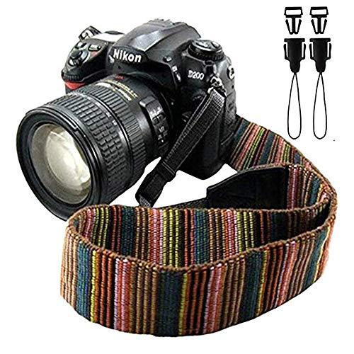 Universale tracolla fotocamera morbida durevole bohemia vintage spalla cinghia reflex per DSLR Nikon Canon Sony Olympus Samsung Pentax Fujifilm,Multicolore.