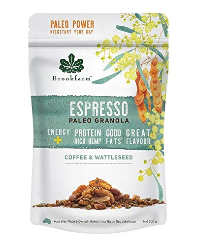 Brookfarm Espresso Premium Paleo Granola, Gluten-Free and Vegan - Coffee and Wattleseed (300g)