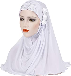 MoreChioce Tinta Unita Musulmano Donna Turbante Cappello Hijab,Foulard Velo Turbante Sciarpa Lunga Scialle,Cancro Cap Chem...