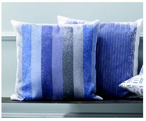 Zucchi - Funda de cojín reversible de Panamá de puro algodón, impresión digital, cierre con cremallera, 40 x 40 cm