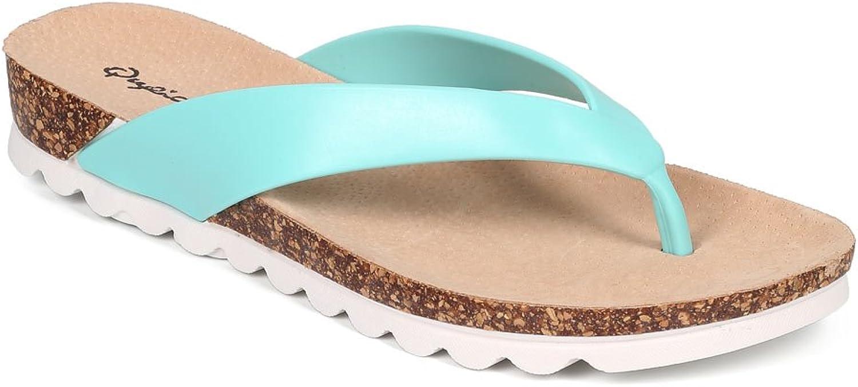 Qupid Women PVC Thong Cork Sandal CF53 - Mint