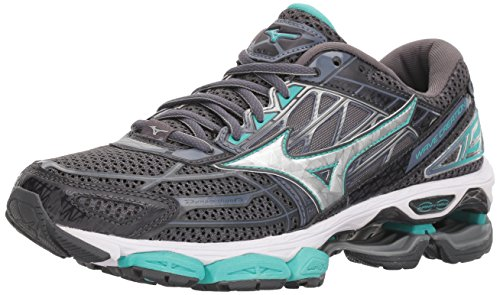 Mizuno Women's Wave Creation 19 Running Shoe, Magnet/Silver, 6.5