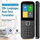 GJNWRQCY Dispositivo de traductor de Idiomas Compatible con 138 Idiomas adicionales Dispositivo de t...