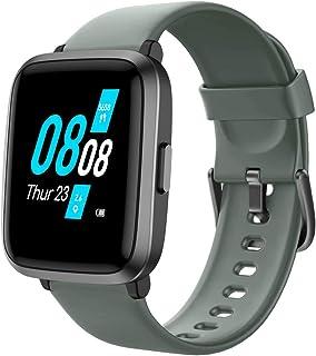 YAMAY Smartwatch Uomo Donna con Saturimetro Pressione Sanguigna Cardiofrequenzimetro Orologio Fitness Contapassi Fitness T...