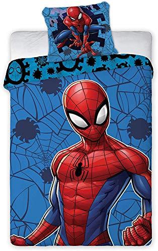 Aymax Marvel Spiderman Bettwäsche-Set Bettbezug 140x200 cm + Kissenbezug