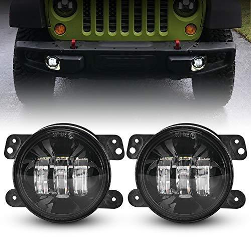 LX-LIGHT 4 Inch 60W Cree LED Fog Light with EMC Compatible with Jeep Wrangler TJ LJ JK Dodge Journey Front Bumper Lights(Pair)