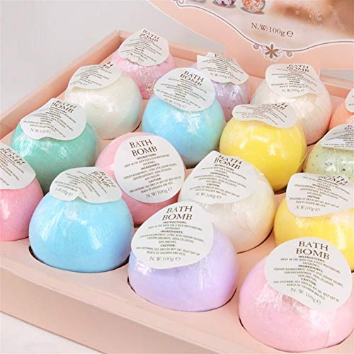 Qualité naturelle Bubble Bath Bombe hydratante boule huile essentielle main SPA Stress Relief Exfoliant Sel de bain Bain Bombes Douche Qualité naturelle (Size : 6pcs, Smell : Random Color)